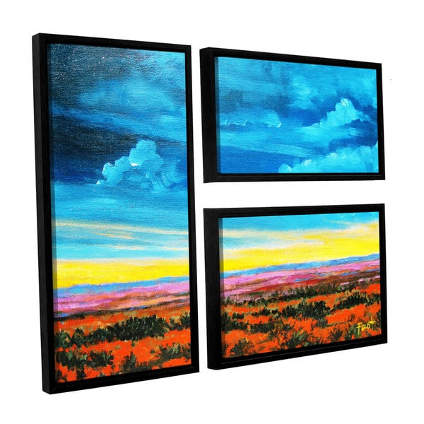 ArtWall 'Gene Foust's Riders on the Storm' 3-piece Floater Framed Canvas Flag Set - Multi