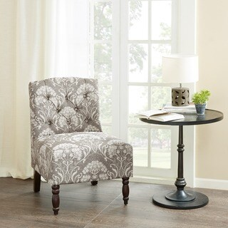 Madison Park Lina Taupe Tufted Armless Chair