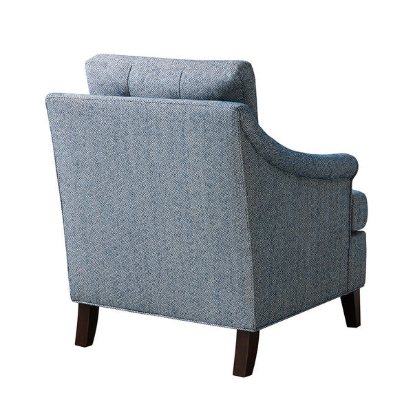 Madison Park Collin Navy Tufted Club Chair   Free Shipping Today    Overstock.com   18343352