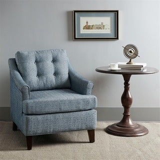 Madison Park Collin Navy Tufted Club Chair