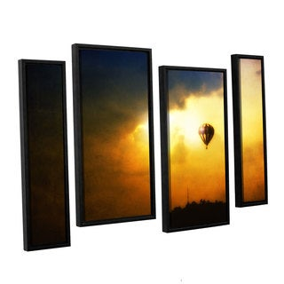 ArtWall 'Dragos Dumitrascu's Close Enough' 4-piece Floater Framed Canvas Staggered Set