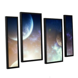 ArtWall 'Dragos Dumitrascu's Nova' 4-piece Floater Framed Canvas Staggered Set