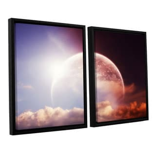 ArtWall 'Dragos Dumitrascu's Light Over Darkness-Russet' 2-piece Floater Framed Canvas Set