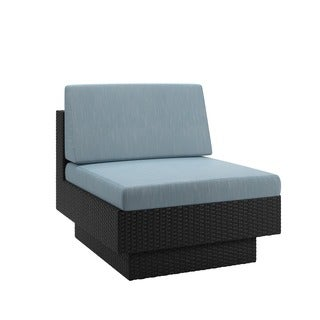 CorLiving Park Terrace Patio Middle Seat in Textured Black Weave