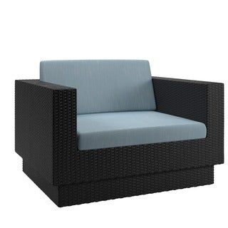 Oliver & James Balla Textured Black Weave Outdoor Terrace Chair