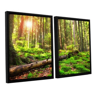 ArtWall 'Dragos Dumitrascu's Back to Green' 2-piece Floater Framed Canvas Set