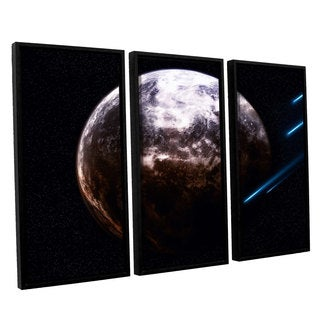 ArtWall 'Dragos Dumitrascu's Atlas Under Seige' 3-piece Floater Framed Canvas Set