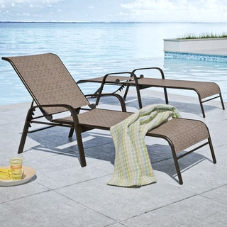 CorLiving Nantucket Brown Reclining Loungers, Set of 2