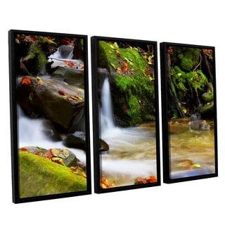 ArtWall Dragos Dumitrascu's Timeless Forest, 3 Piece Floater Framed Canvas Set