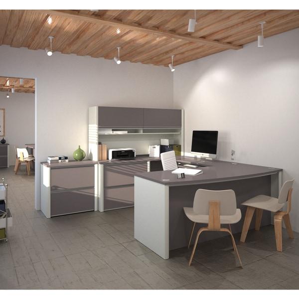 Best Interior Design Business Software: Shop Bestar Connexion U-shaped Workstation Desk With