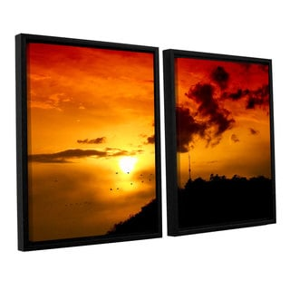 ArtWall 'Dragos Dumitrascu's Red Sky' 2-piece Floater Framed Canvas Set