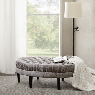 Madison Park Chase Grey Multi Colored Surfboard Tufted Ottoman