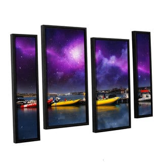 ArtWall 'Dragos Dumitrascu's Gateway' 4-piece Floater Framed Canvas Staggered Set