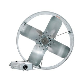 iLIVING Automatic Gable Mount Attic Ventilator Fan with Adjustable Thermostat with 3.15 Amps