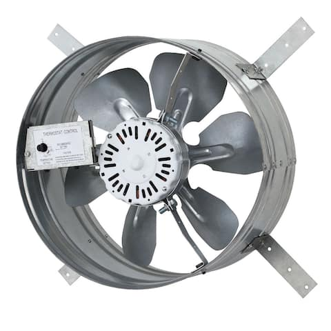 iLIVING Automatic Gable Mount Attic 3.10 Amps Ventilator Fan with Adjustable Thermostat