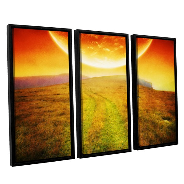 ArtWall 'Dragos Dumitrascu's Apocolypse Now' 3-piece Floater Framed Canvas Set