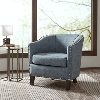 Madison Park Emery Slate Blue Barrel Arm Chair