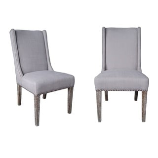 Key West Dining Chair-Oatmeal Linen-Set Of 2