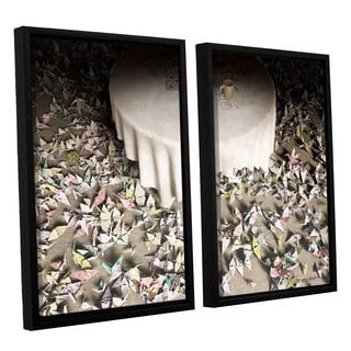 ArtWall 'Cynthia Decker's The Perfectionist' 2-piece Floater Framed Canvas Set