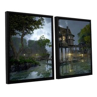 ArtWall 'Cynthia Decker's Stillwater' 2-piece Floater Framed Canvas Set