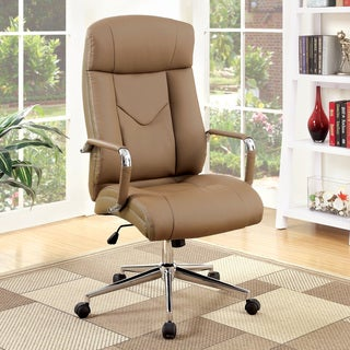 Furniture of America Dity Contemporary Brown Faux Leather Office Chair
