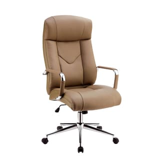 Furniture of America Marchelle Contemporary High Back Camel Faux Leather Office Chair