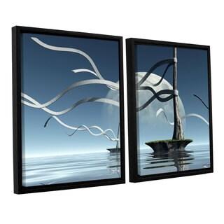 ArtWall 'Cynthia Decker's Ribbons' 2-piece Floater Framed Canvas Set