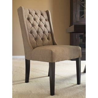 Captiva Island Dining Chair-Muddy Brown Linen - Set Of 2