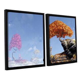 ArtWall 'Cynthia Decker's Leaf Peepers' 2-piece Floater Framed Canvas Set