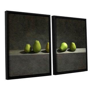 ArtWall 'Cynthia Decker's Five Pears' 2-piece Floater Framed Canvas Set