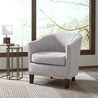 Madison Park Emery Cream Barrel Arm Chair