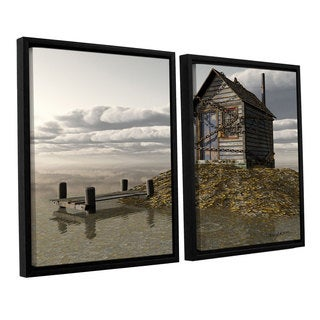 ArtWall 'Cynthia Decker's Locked Out' 2-piece Floater Framed Canvas Set