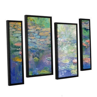 ArtWall 'Michael Creese's Water' 4-piece Floater Framed Canvas Staggered Set