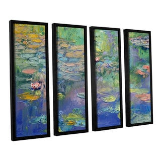 ArtWall 'Michael Creese's Water' 4-piece Floater Framed Canvas Set