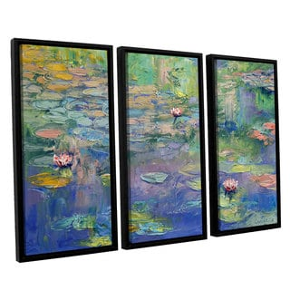ArtWall 'Michael Creese's Water' 3-piece Floater Framed Canvas Set