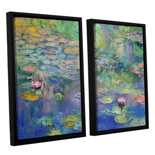 ArtWall 'Michael Creese's Water' 2-piece Floater Framed Canvas Set