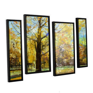 ArtWall 'Michael Creese's Shades of Autumn' 4-piece Floater Framed Canvas Staggered Set