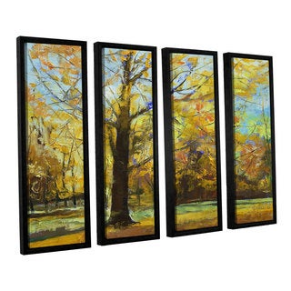ArtWall 'Michael Creese's Shades of Autumn' 4-piece Floater Framed Canvas Set