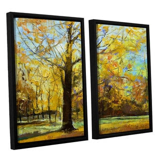 ArtWall 'Michael Creese's Shades of Autumn' 2-piece Floater Framed Canvas Set