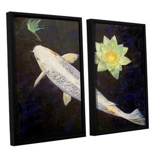 ArtWall 'Michael Creese's Platinum Ogon Koi' 2-piece Floater Framed Canvas Set