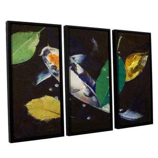 ArtWall 'Michael Creese's Kumonryu Koi' 3-piece Floater Framed Canvas Set