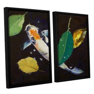 ArtWall 'Michael Creese's Kumonryu Koi' 2-piece Floater Framed Canvas Set