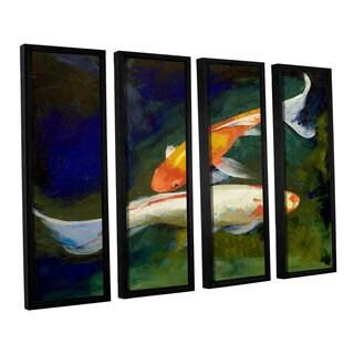 ArtWall 'Michael Creese's Feng Shui Koi Fish' 4-piece Floater Framed Canvas Set
