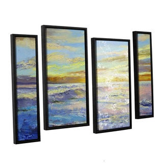 ArtWall 'Michael Creese's Florida Sunrise' 4-piece Floater Framed Canvas Staggered Set