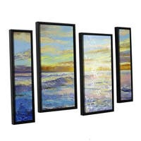 ArtWall 'Michael Creese's Florida Sunrise' 4-piece Floater Framed Canvas Staggered Set - Multi