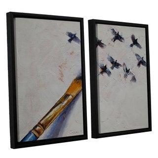 ArtWall 'Michael Creese's Birds' 2-piece Floater Framed Canvas Set