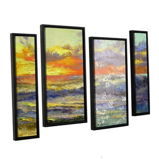 ArtWall 'Michael Creese's Califonia Dreaming' 4-piece Floater Framed Canvas Staggered Set