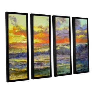 ArtWall 'Michael Creese's Califonia Dreaming' 4-piece Floater Framed Canvas Set