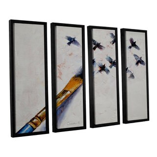 ArtWall 'Michael Creese's Birds' 4-piece Floater Framed Canvas Set