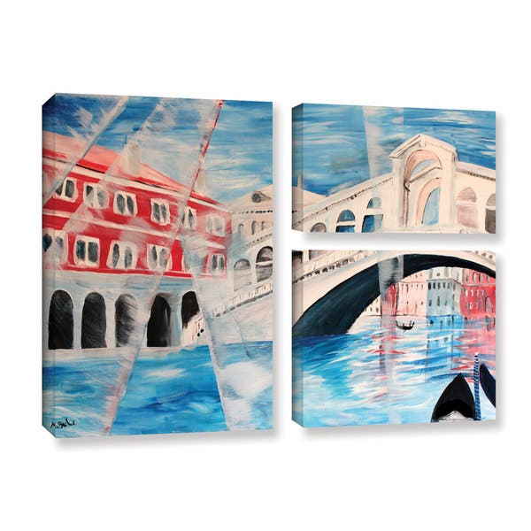 Artwall Marcus Martina Bleichner S Rialto Bridge 3 Piece Gallery Wrapped Canvas Flag Set On Sale Overstock 11375182